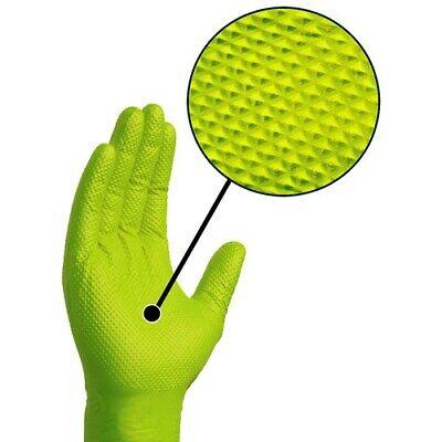 Ammex Gloveworks Green Nitrile Gloves- Medium- 100ctbox- Gwgn44100