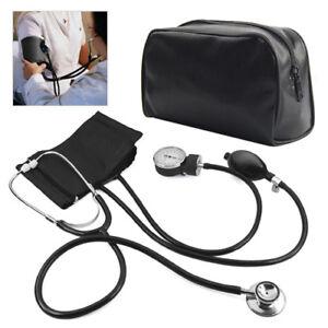 Aneroid Sphygmomanometer Cuff Blood Pressure Montior Stethoscope Nylon Cuff Dial