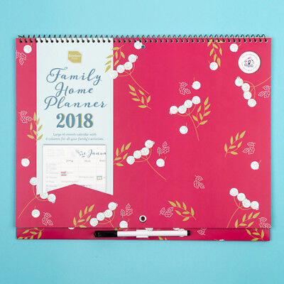 Boxclever Press (Organised Mum) Family Home Planner Calendar 2018. Month-to-view