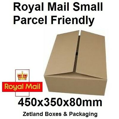 Cardboard  Postage & Postal Boxes SMALL Parcel Size 450x350x80MM in 100PK