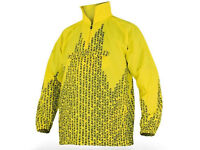 New Kids Junior Acerbis No Rain Jacket Waterproof Over Jacket Yellow Youth MX