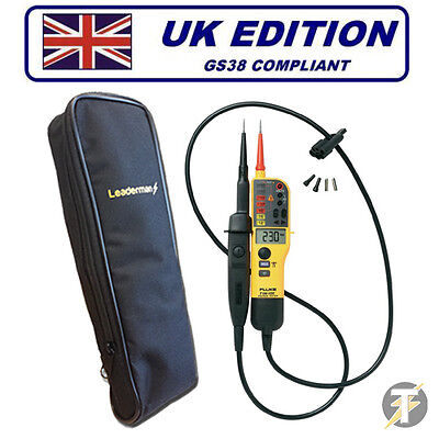 Fluke T150 Voltage and Continuity Two Pole Tester Plus LDMC1 Carry Case for sale  Shipping to Ireland