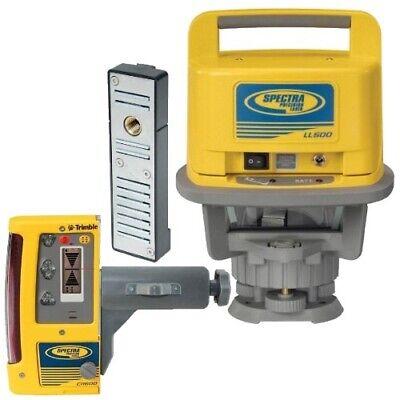 Spectra Precision Laser Level Ll500-10 Wcr600 Receiver Alkaline Batteries