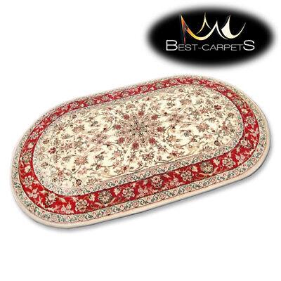 Traditionelle Ovale Teppich (Traditionell Agnella Ovale Teppiche Creme Blumen Standard Moderne Designs)