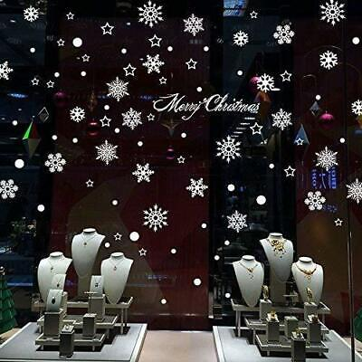 Natale Vetrofanie Display Rimovibile Adesivi Murali Fai da te Finestra...