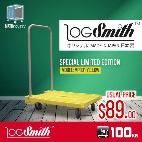 Hand Truck 100kg Folding Handle Trolley Portable Plastic Base (Made In Japan)