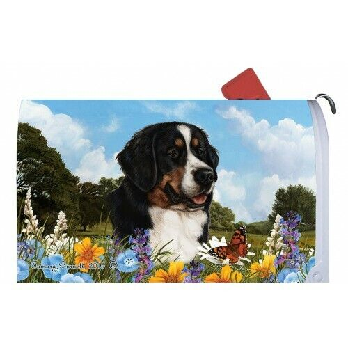 Magnetic Mailbox Wrap (Summer) - Bernese Mountain Dog 56051