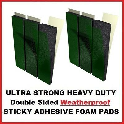 6x Number Plate Double Sided Foam Adhesive Fixing Pads Sticky Pads 6mm Oversized