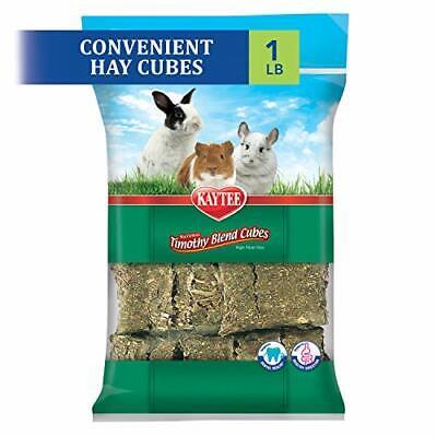 Kaytee Natural Timothy High Fiber Hay Cubes Rabbits Small Animals 1 Lbs 453 gra