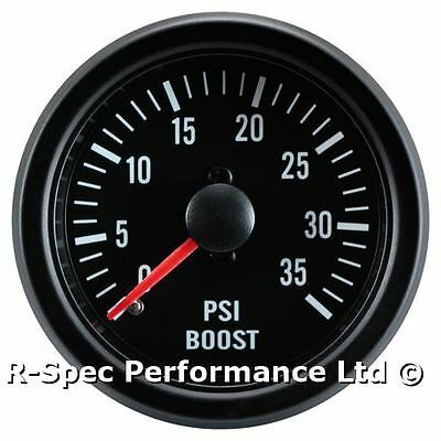 35 PSI Turbo Diesel 52mm Black Face Mechanical Boost Pressure Gauge - Tdi Td Dt