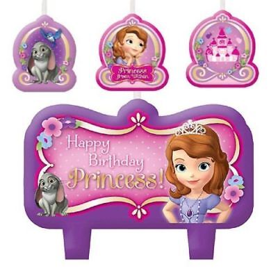 Sophia the First Party Supplies Birthday Candle Set - Sophia First Birthday