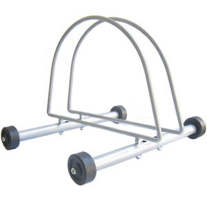 Brand NEW Portable Rolling Free Standing Indoor/Outdoor Bicycle Stand Bike Rack