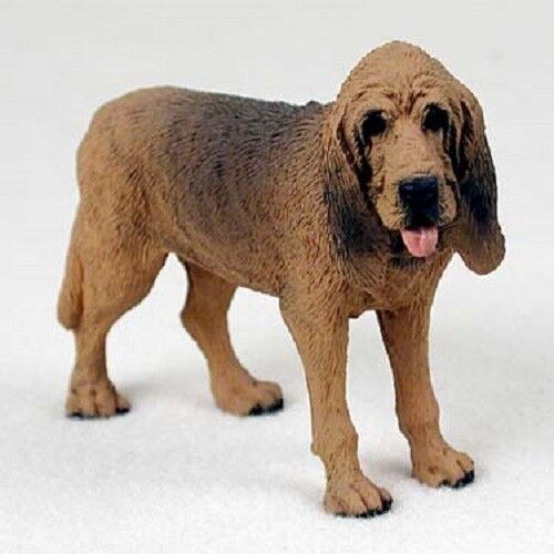 BLOODHOUND dog FIGURINE puppy HAND PAINTED Statue COLLECTIBLE resin NEW
