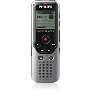 Philips Voice Tracer DVT1200 4GB Digital Voice Recorder - 4 GB Flash Memory - 1.3 LCD - Headphone - 270 HourspeaceRecord