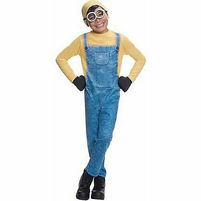New Boys M 8 or L 10/12 MINIONS Bob complete funny Halloween Costume overalls](Funny Teen Boy Costumes)