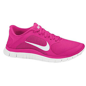 *New* US Size 5.5 - Nike Free 4.0 V3 - Womens - Pink Force/White