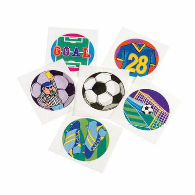12 Soccer Ball Temporary Tattoos Team Sports Party Goody Bag Filler Favor Supply