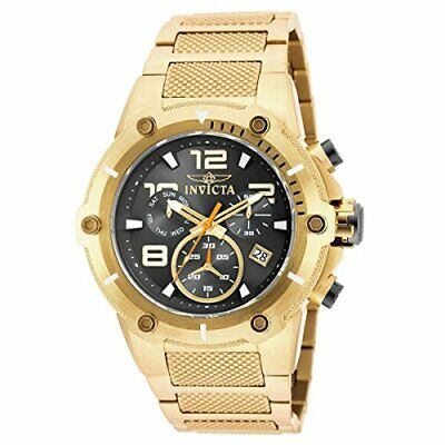 Invicta Men's Speedway Chronograph 100m Gold Plated Stainless Steel Watch 19530