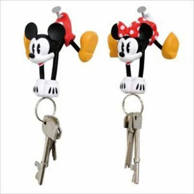 DISNEY Mickey Minnie Mascot Magnet Key Hanger Holder from JAPAN F/S
