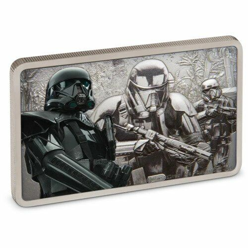 DEATH TROOPER STAR WARS GUARDS OF THE EMPIRE 2020 1 oz Fine Silver Antiqued Coin