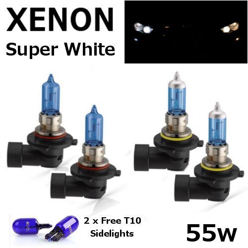 HB3 HB4 T10 55w 65w SUPER WHITE XENON LOOK Upgrade Car Bulbs FULL SET 12V  A