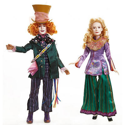 """Disney Alice in Wonderland 11.5""""Deluxe Collector Doll - Hatter and Alice"""