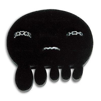 1 Black Velvet 8 Slot Small Toe Ring Display 3 14w X 3 14d X 58h