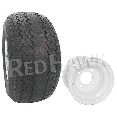*New* Golf Cart Tire & Wheel Assembly 18x8.50-8 White Rim EZGO, Yamaha, Club Car
