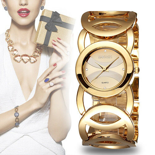 $20.77 - Ladies Women Gold Rose Gold Watch Luxury Rhinestones Dial Analog Quartz Gift