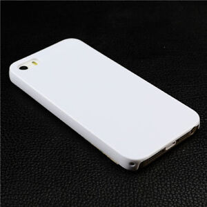 Glossy Slim White Hard Protector Back Case for iPhone SE 5s