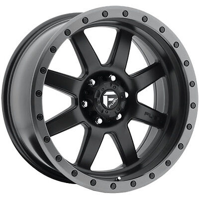 20x9 Black Fuel Trophy 6x5.5 +1 Rims W/ Nitto NT555R 275/40R20 Tires New