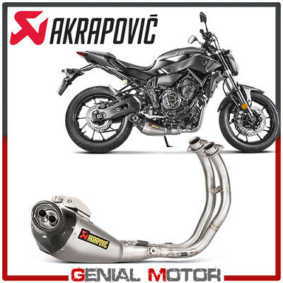 FULL SYSTEM EXHAUST TITANIUM AKRAPOVIC RACING LINE FOR <em>YAMAHA</em> FZ7 2014