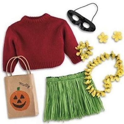 American Girl Doll Molly's Hula Halloween Costume NEW!! ](Molly Doll Costume)