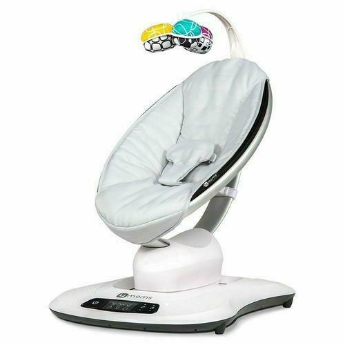 4Moms Mamaroo 4 Infant Baby Reclining Seat Rocker Bouncer Swinging Classic Gray