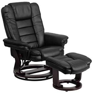 """""""WANTED"""" leather chair with ottoman"""