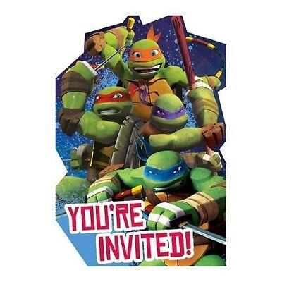 TEENAGE MUTANT NINJA TURTLES 8ct Birthday Invitations Birthday Party - Teenage Mutant Ninja Turtles Birthday Party Supplies