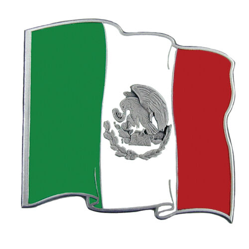 mexico flag metal trailer hitch cover