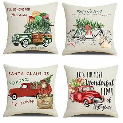 Christmas 22x22 Throw Pillow Covers, Decorative Outdoor Farmhouse Merry Christm