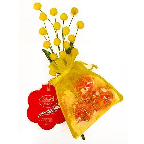 Lindt Lindor Mimosa Festa della Donna 37 gr Cioccolatini al Latte Regalo 853840