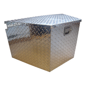 ALUMINUM CHECKER PLATE TOOL BOX FOR TONGUE OF TRAILER!!!