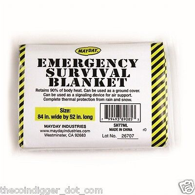 12pk EMERGENCY BLANKET Survival Kits Bug Out Bags First Aid MAYDAY Solar Blanket