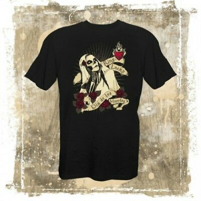 T-shirt -von King Lucky--DIA DE LOS MUERTOS - Oldschool Rockabilly Sugar-Skull