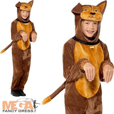 Dog Kids Fancy Dress Animal Puppy Book Day Week Boys Girls Childrens Costume New