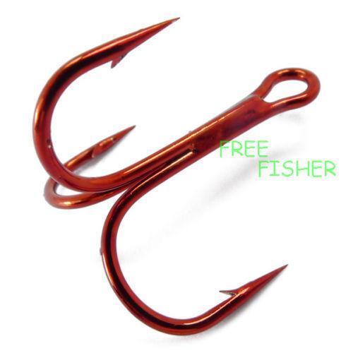Treble hooks 4 ebay for Treble fishing hooks