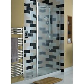 Bathstore 1400 x 900 Atlas walk-in glass shower enclosure