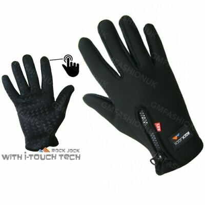 ROCKJOCK SPORTS QUALITY FLEECE WARM SPORT WINTER GLOVES WITH GRIPPER PALM /& ZIP