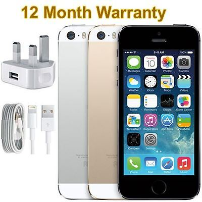 SELLER REFURBISHED APPLE IPHONE 5S 16GB 32GB 64GB SILVER GREY GOLD UNLOCKED SMARTPHONE ALL COLOURS