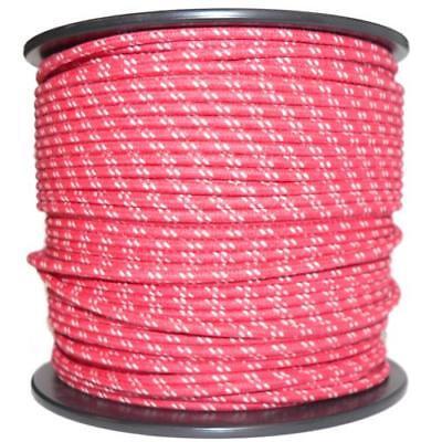 1M Algodón Trenzado Automotive Eléctrico Cable 18 Calibre Rojo y Blanco Mancha