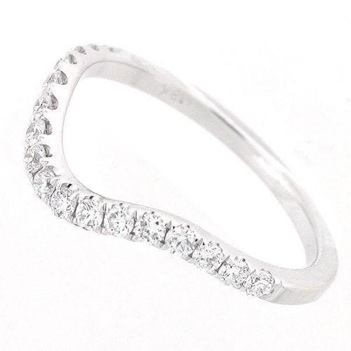 womens curved wedding band white gold ebay