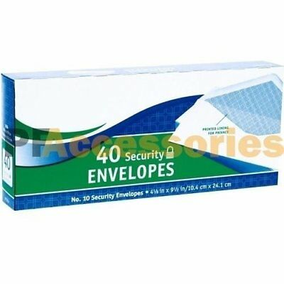 40 Ct 10 Regular Security White Letter Mailing Shipping Envelopes 4-18 X 9-12